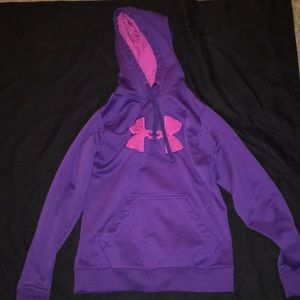 Purple and Pink Under Armour pullover hoodie